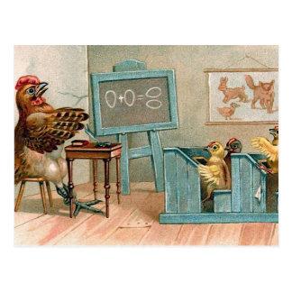 """De Wijnoogst van """"kippen in School"""" Briefkaart"""