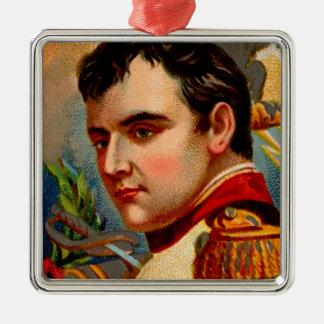 De Wijnoogst van Napoleon Zilverkleurig Vierkant Ornament