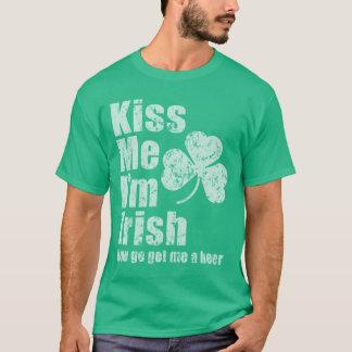 De wijnoogst verdwijnt kust me ik ben Iers wordt T Shirt