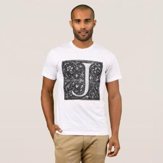 De wijnoogst Verlichte T-shirt van de Brief J
