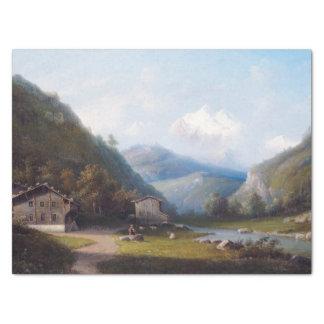 De Wijnstok van de Berg van de Alpen van de Tissuepapier