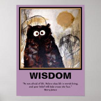De Wijsheid van de Kunst van de uil Poster