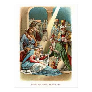De wijzen aanbidden briefkaart