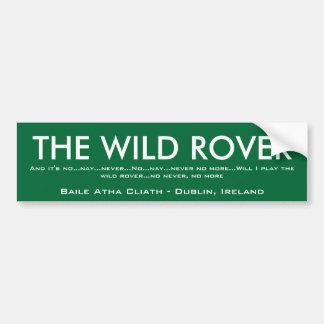 De wilde Bumper van Rover Bumpersticker