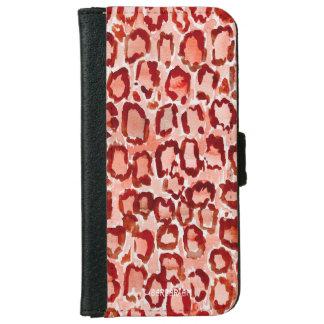 De WILDE Druk van de Oranje Huid van de Luipaard iPhone 5 Portefeuille Hoesje