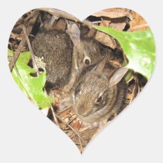 De wilde Konijntjes van het Baby Hart Sticker