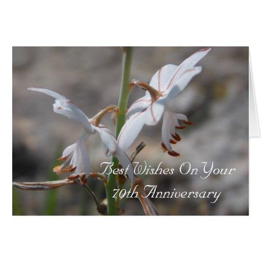 de Wilde Lelies van de 70ste Verjaardag van het Hu Kaart