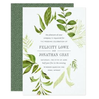 De wilde Uitnodiging van het Huwelijk van de Weide Kaart