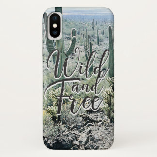 De wilde Vrije Vintage Typografie van de Woestijn iPhone X Hoesje