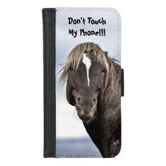De wilde Waarschuwing van de Mustang iPhone 8/7 Portemonnee Hoesje