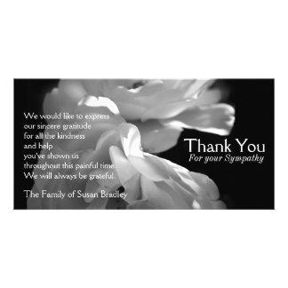 De wilde Witte Rozen 1 Sympathie danken u Kaart