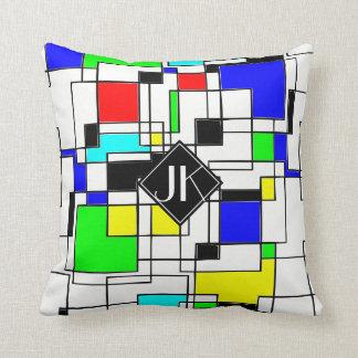 De willekeurige Hulde van Vierkanten aan Mondrian Sierkussen