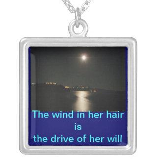 De wind is haar zal sieraden