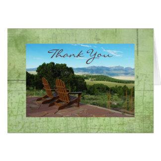 De Wind van Colorado dankt u nota neemt van Wenskaart