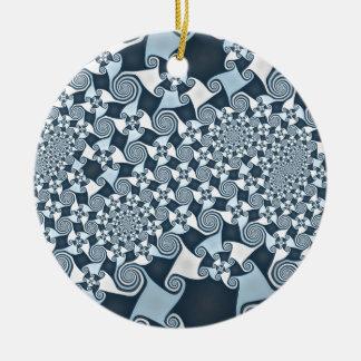 De Winden van Gnarly Rond Keramisch Ornament