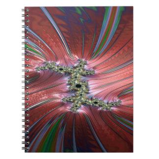 De winden van verloren tijdfractal ringband notitieboek