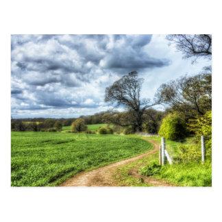 De windende Weg HDR van het Land Briefkaart