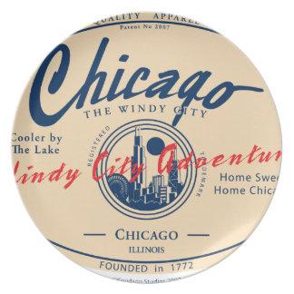 De Winderige Stad van Chicago Bord