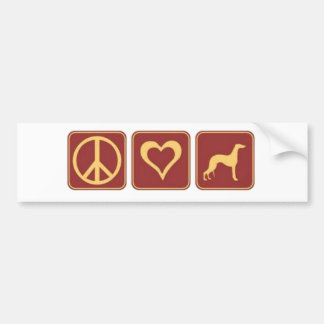 De Windhond van de Liefde van de vrede Bumpersticker