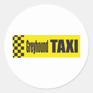 De Windhond van de taxi Ronde Sticker