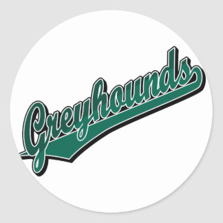De windhonden in 2 stemmen Groen Ronde Sticker