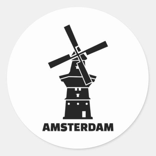 De windmolen van Amsterdam Ronde Sticker