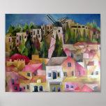 De windmolen van Montefiori Print