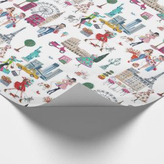 De winkel til u laat vallen   wraping document inpakpapier