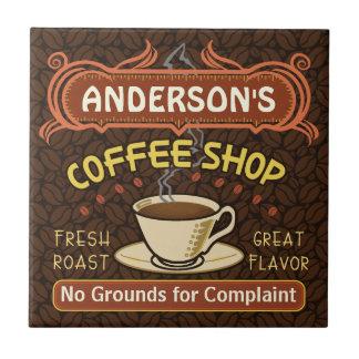 De Winkel van de koffie met Mok Creëer Uw Tegeltje