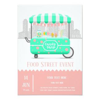 De winkel van het de straatsnoep van het voedsel kaart
