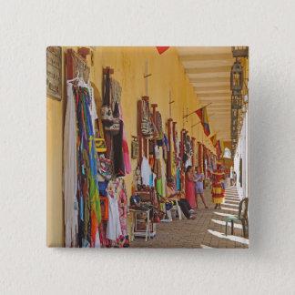De Winkels van de herinnering in Cartagena Vierkante Button 5,1 Cm