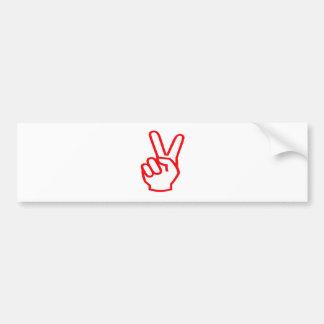 De Winnaar van de OVERWINNING:  Het Symbool van de Bumpersticker