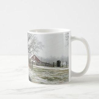 De winter bij het Boerderij van de Aardbei Koffiemok