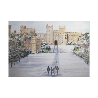 De winter bij Kasteel Windsor Canvas Afdruk