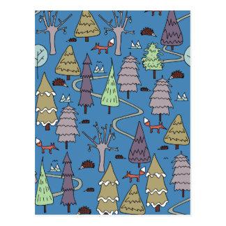 de winter bomen briefkaart