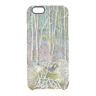 de winter bos doorzichtig iPhone 6/6S hoesje