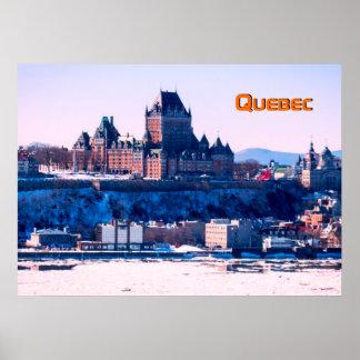 De winter | de Stad van Quebec Poster