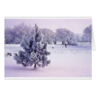 De winter die met hond schaatsen briefkaarten 0