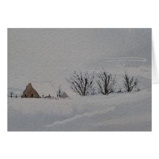 De winter in het Land Kaart
