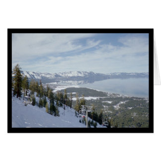 De winter in Lied Tahoe- van Sol. Het Wenskaart