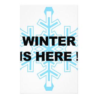 De winter is hier! Liberale Sneeuwvlok Briefpapier