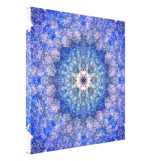 De winter is Mandala benieuwd Canvas Print