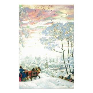 De winter. _Kustodiev Briefpapier