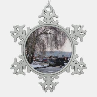 DE WINTER NARROWBOATS TIN SNEEUWVLOK ORNAMENT