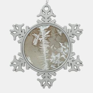 De winter tin sneeuwvlok ornament