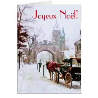 De Winter van Noel van Joyeux in de Stad Franse Wenskaart