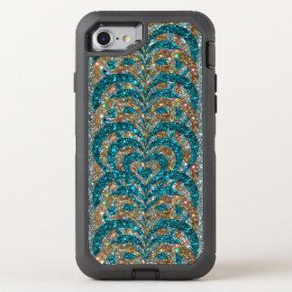 De wintertaling & het Goud schitteren de OtterBox Defender iPhone 8/7 Hoesje