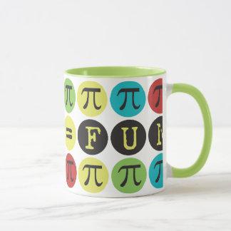 De wiskunde evenaart Pret - Kleurrijk Mod. Pi - de Mok