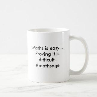 De wiskunde is gemakkelijk. De test het is Koffiemok