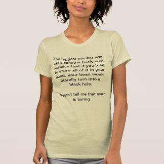 De wiskunde is Groot T Shirt